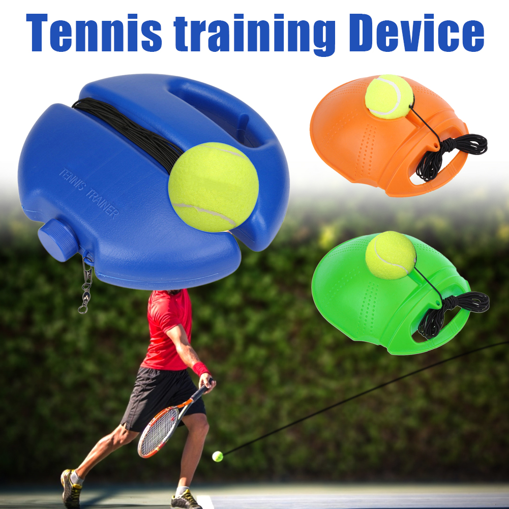 Tennis Trainer Self-Learning Rebound Ball Training Equipment Single Tennis Trainer Base +Rubber Band Ball  Convenient Exerciser