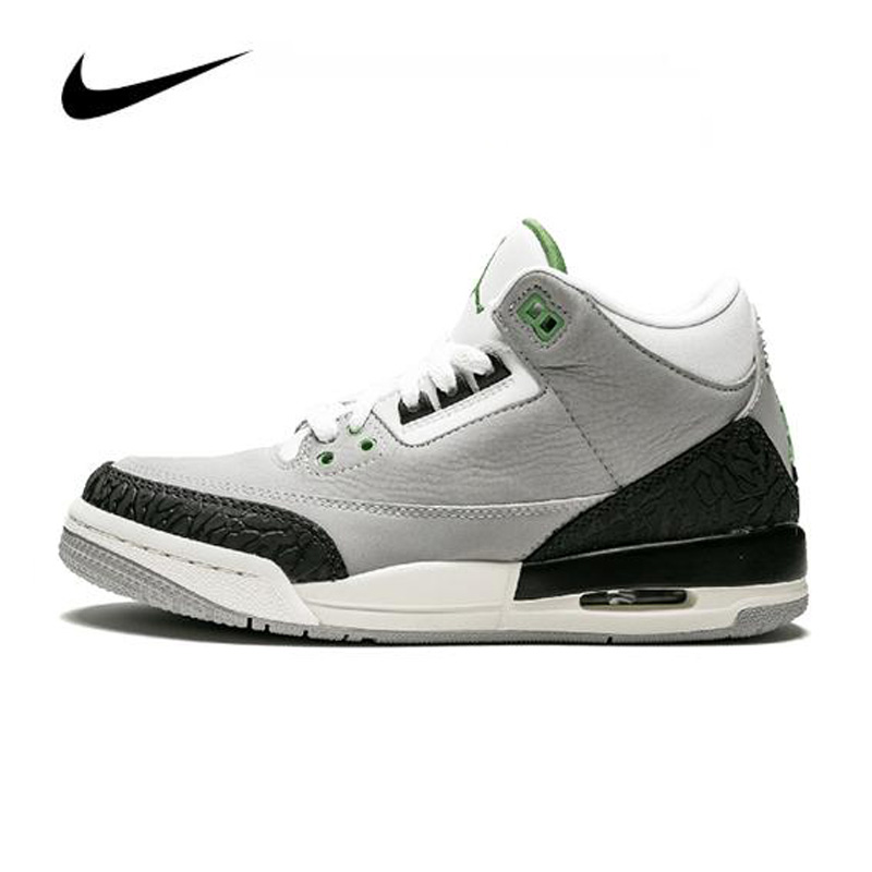 Nike <font><b>Air</b></font> <font><b>Jordan</b></font> <font><b>3</b></font> <font><b>Retro</b></font> (GS) Mens <font><b>Jordan</b></font> Basketball Shoes High-top Sneakers Women Breathable Sports Shoes Boots 398614-006 image