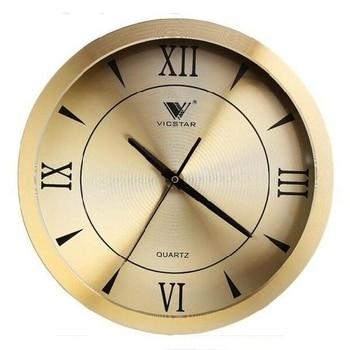 Creative Metal Big Wall Clock Golden 3d Silent Watch Wall Shabby Chic Living Room Bedroom Hotel Relogio De Parede Decor SC060