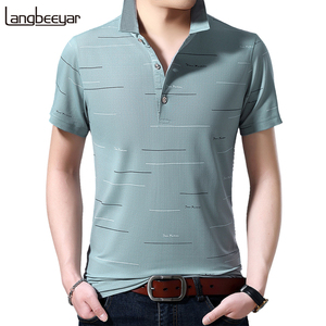 Summer Fashion Brand Turn Down Collar Plaid Man Polo Shirt Men 2020 Short Sleeve Tops Logo Quality Men Clothing
