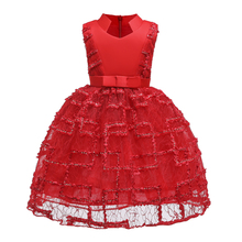 Chouchoubaby Girl Party Dress 2019 New Elegant Girl Evening Dress For Baby Girls Clothes Children Wedding Party Dress
