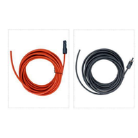 שמש כבל 12AWG 4mm ² זוג אחד של שחור ואדום עם מחבר שמש PV כבל באיכות גבוהה משלוח חינם|אביזרים סולריים|   -