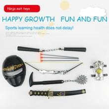 Toy Sword Set Children's Toys Japan Ninja Sword Weapon Set Meteor Hammer Wrist Bow Nunchaku Stage Props