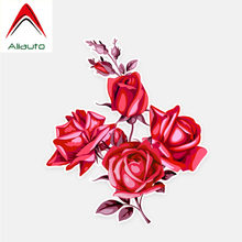 Aliauto Flowers Car Stickers Red Roses Accessories Decor Vinyl Decal for Golf 7 Kia Opel Astra J Suzuki Tiguan ,14cm*12cm(China)