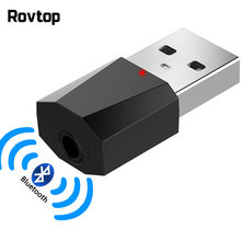 USB Bluetooth 4.2 Receiver 3.5mm Jack AUX Wireless Adapter Music Audio Auto Adapter For Car Kit TV Heaphone Speaker Receiver(China)