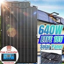 Zonnepaneel 640W 320W 18V Etfe Solar Power Bank Auto Battery Charger System 18V Zonnepaneel kit Compleet Voor Thuis Outdoor Camping zonnepaneel zonnepanelen zonnestelsel zonnepaneel camper zonne energie zonnepaneel set