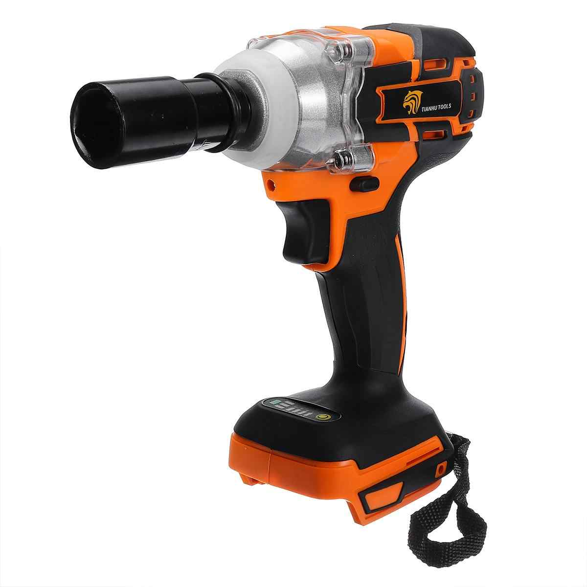 18V 520Nm 1/2 High Torque Cordless Brushless Impact Wrench Drill Tool ElectricAdapted to 18V Makita Battery