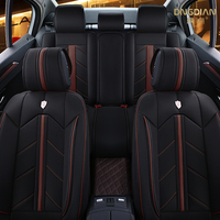luxury sport auto accessory full surround cover universal fit szie leather car seat cover for benz bmw lada kia toyota