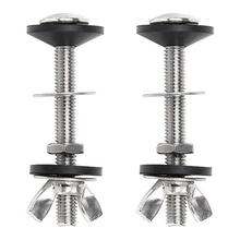 2 Pack Toilet Tank to Bowl Bolt Kits Cistern Bolts Kit,Stainless Steel Toilet Pan Fixing Fitting with Double Gaskets