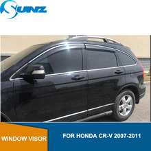 Car Window Visor For Honda CR-V 2007-2011 Chrome strip rain protector 2007 2008 2009 2010 2011 SUNZ