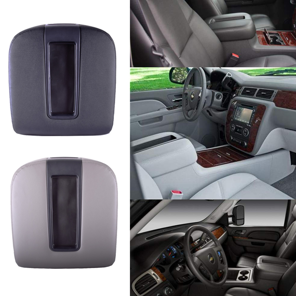 Console centrale couvercle accoudoir couvercle Kit pour 2007-2014 Chevy Avalanche Silverado Chevrolet banlieue Tahoe GMC Sierra Yukon XL LT Z7