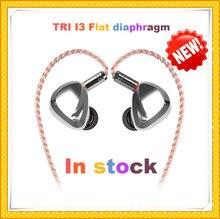 TRI I3 Flache Membran + Verbund 8MM Dynamische Treiber + Ausgewogene Anker Fahrer Hybrid In Ohr Kopfhörer HIFI DJ metall Kopfhörer