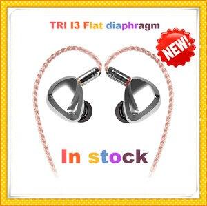 Image 1 - TRI I3 diaphragme plat + Composite 8MM pilote dynamique + Armature équilibrée pilote hybride dans loreille écouteur HIFI DJ métal écouteurs