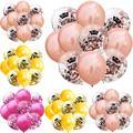 10 шт./лот, 12-дюймовые латексные воздушные шары с номером короны, перламутровые воздушные шары 16, 18, 21, 30, 40, 50, 60 лет, вечерние украшения для дня ...