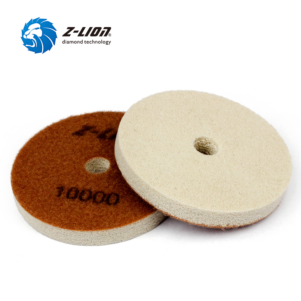 Z-LION 2pcs Diamond Polishing Sponge Marble Granite Concrete Floor Polishing Grinding 4