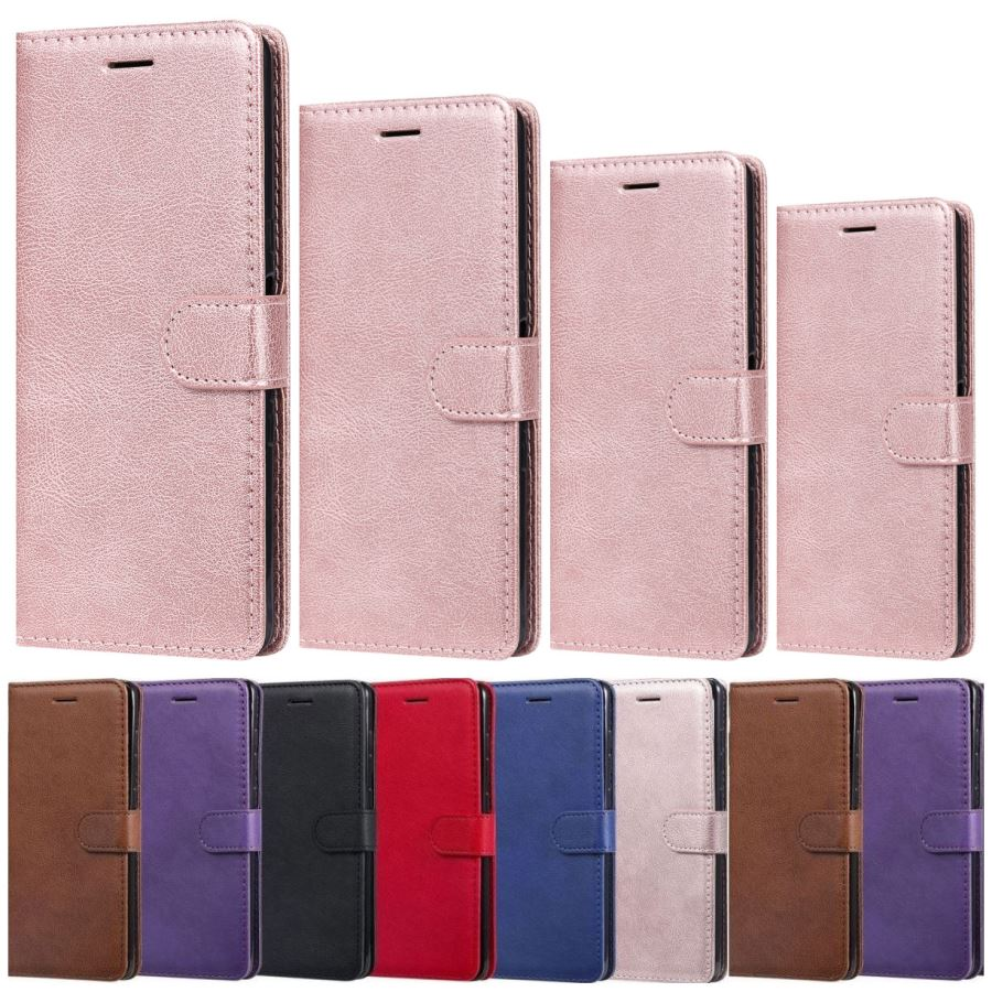 Solid Color PU Leather Cover For Huawei P40 Pro P30 Lite P20 Honor 9X Pro 8X 8A 8S P Smart Z Luxury Flip Business Wallet DP06E