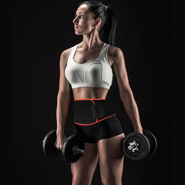 Waist Trimmer Belt Sweat Wrap Slim Body Lumbar Support Belt for Women and Men Weight Loss Abdominal Trainer Slimming Body Shaper 2