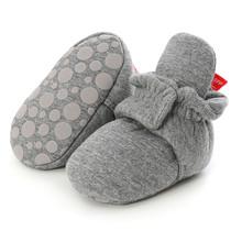 SAGACE skarpetki dla noworodków buty chłopiec dziewczyna gwiazda maluch buciki buciki bawełna komfort miękkie antypoślizgowe ciepłe łóżeczko dziecięce buty tanie tanio Wszystkie pory roku RUBBER Unisex Pasuje prawda na wymiar weź swój normalny rozmiar 0-1 M Płytkie Cotton Fabric Slip-on