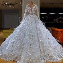 Abendkleider turecki islamski dubaj kaftany białe piórko korowód Party Dress 2020 najnowsze długie sukienki balowe cekiny suknie wieczorowe