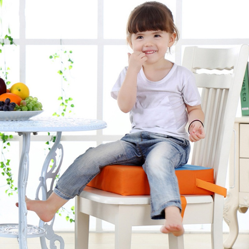Baby  Seat Pads  FuToddler Washable Portable Chair Booster Removable Cover Foldable Dining Chair Heightening Cushion