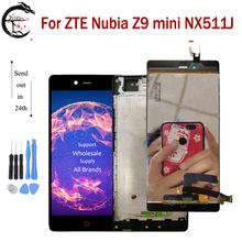 LCD עם מסגרת עבור ZTE נוביה Z9 מיני NX511J מלא LCD תצוגת מסך מגע חיישן Digitizer עצרת החלפת Z9mini תצוגה
