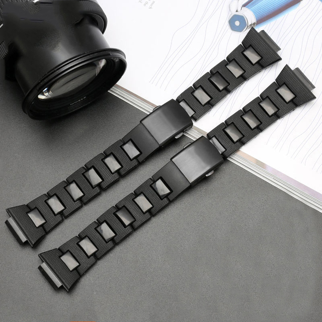 Black Plastic Strap for Casio G-SHOCK DW-5600 DW6900 DW9600 GW-M5610 Stainless Steel Buckle Men Bracelet Band Watch Accessories