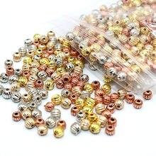 500/1000 pces forma redonda contas ccb para fazer jóias artesanal ccb espaçador contas pequenas contas soltas diy nenhum desvanece-se