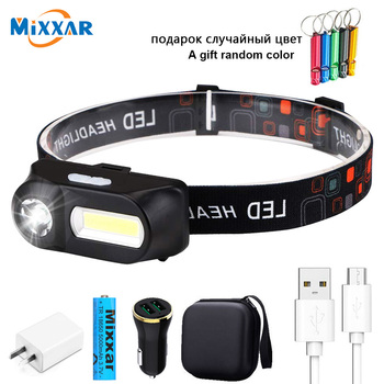 zk20 Powerful Headlamp 18650battery/with Sensor Headlight For Tourism/Fishing/Motorcycle/Bike Light Head Torch Waterproof/USB image