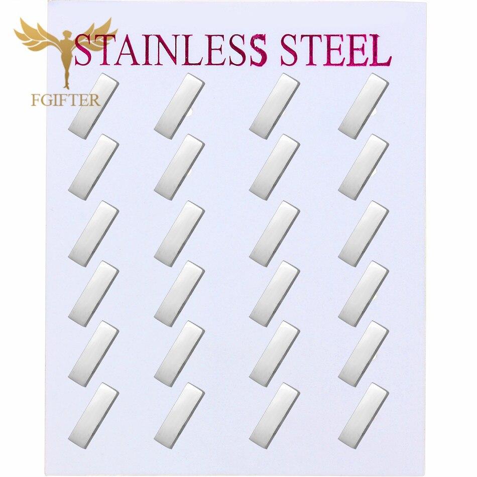 Minimalist Geometric Earrings Stainless Steel Stud Earring For Girls Women Men Black Gold Silver Color Earings Wholesale