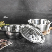 Новые 3 шт./компл. Многофункциональные кухонные терки с сыром из нержавеющей стали сливной таз для овощей фруктовый салат
