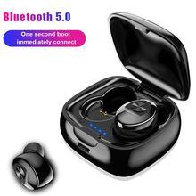 חדש XG12 TWS Bluetooth אלחוטי 5.0 אחת אוזניות 5D סטריאו HIFI צליל ספורט ב אוזניות דיבורית משחקי אוזניות עם מיקרופון