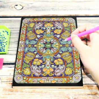 DIY Mandala Notebook Resin Diamond Personality Special Shaped Diamond Painting 50 Pages A5 Notebook Office Supplies