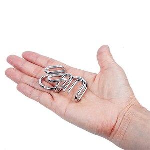 Image 5 - 8 sztuk/zestaw Metal Montessori Puzzle drut IQ umysł łamigłówka Puzzle dzieci dorośli interaktywna gra Reliever edukacyjne zabawki