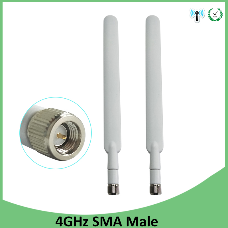2pcs 4G Lte Antenna 5dbi SMA Male Connector Plug Antenne For Huawei B593 4G LTE Router External Repeater Wireless Modem Antennas