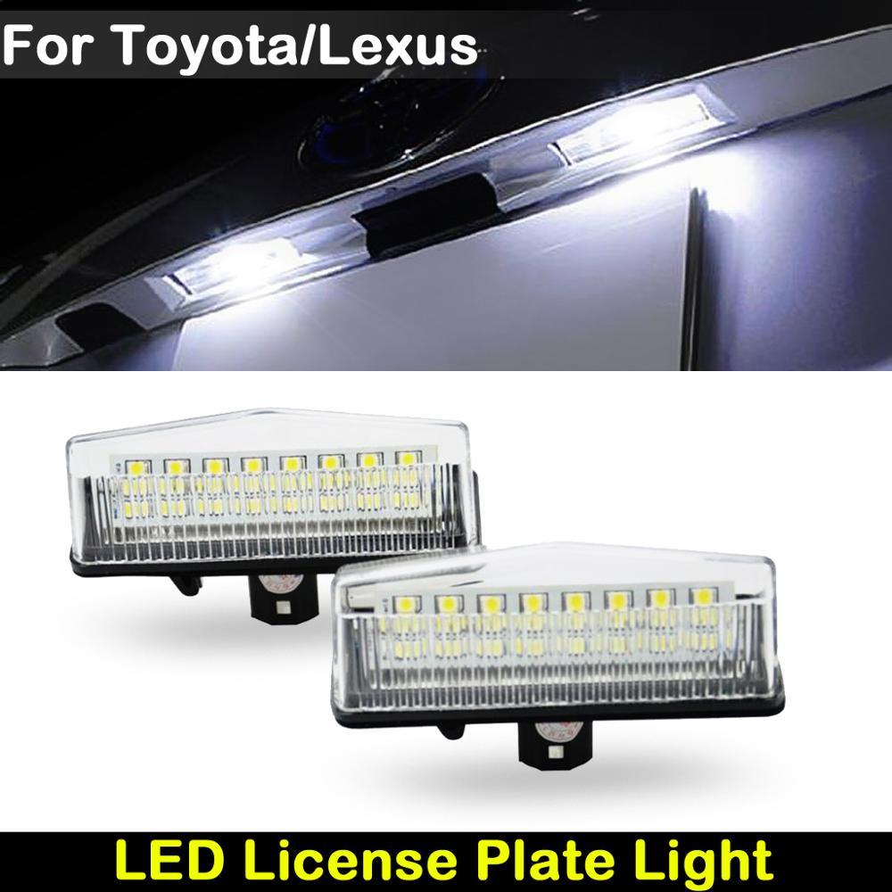 Задний белый светодиодный номерной знак для Toyota Prius Venza Matrix RAV4 C-HR Scion Lexus CT200 NX200 RX200