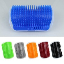 Pet Comb Removable Cat Corner Scratching Rubbing Brush Hair Removal Massage Grooming Cleaning Supplies