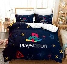 Novo jogo de cama 3d playstation colcha capa de edredão cor preta conjunto personalizado casa têxtil com fronha 2/3pcs