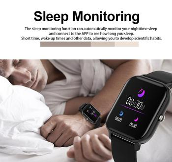 2021 New P8 Color Screen Smart Watch Women men Full Touch Fitness Tracker Blood Pressure Smart Clock Women Smartwatch for Xiaomi 5