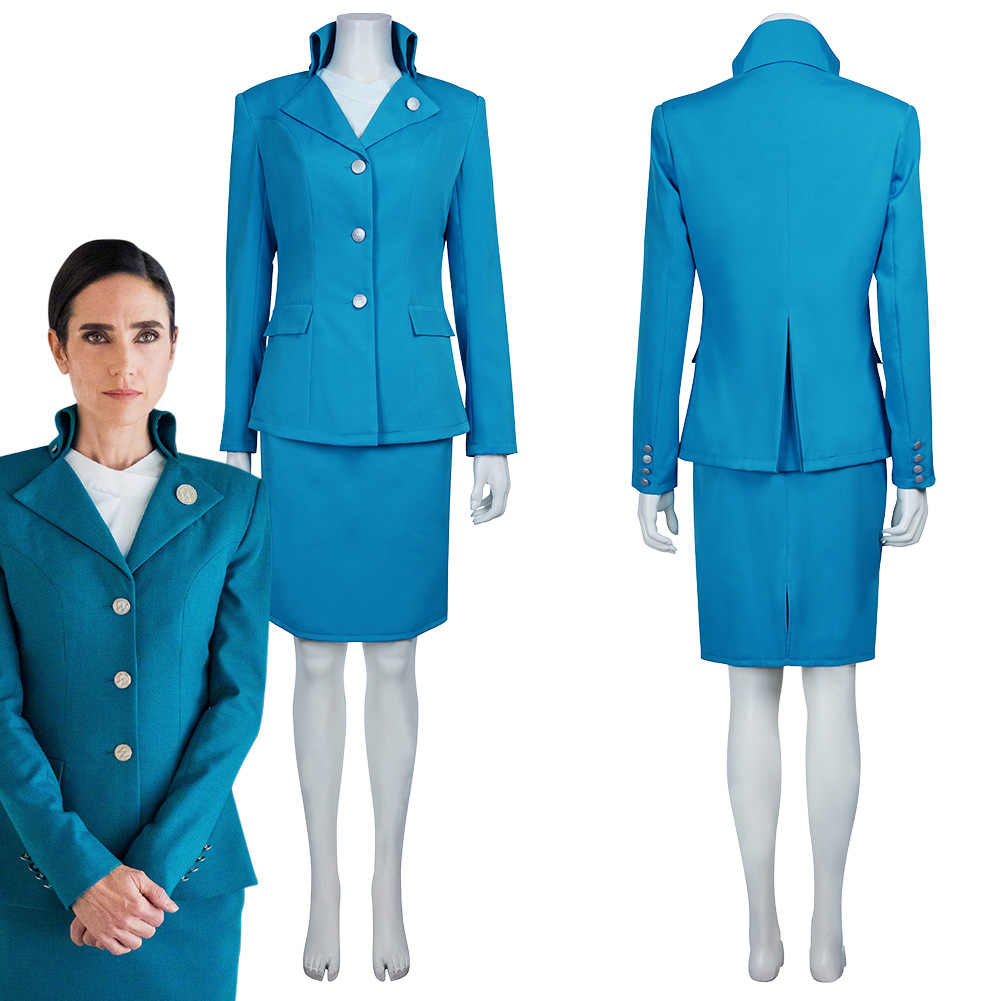snowpiercer melanie cavill cosplay kostüm frauen blaue uniform anzug outfit  volles set kleid