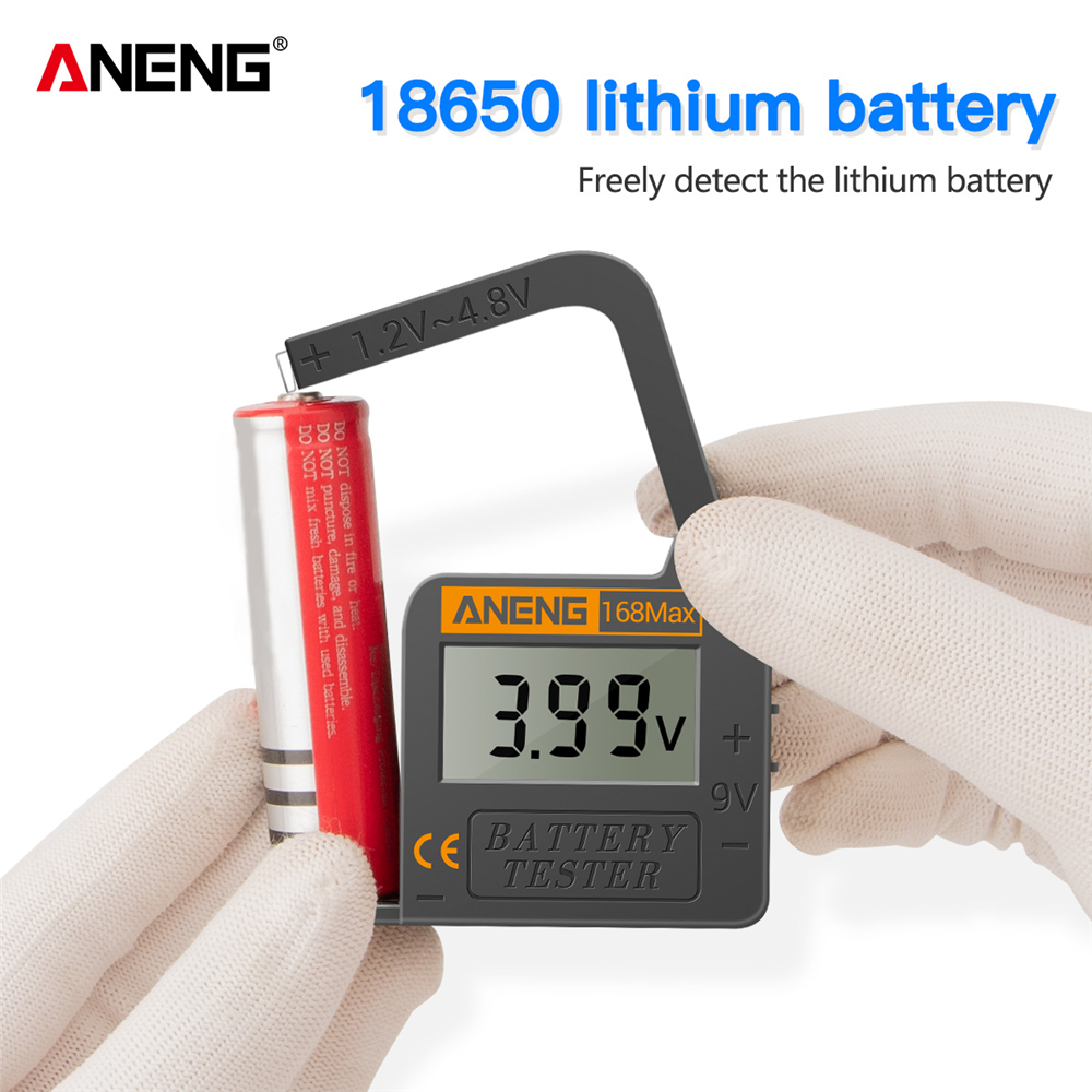 Analytical 168max Digital Lithium Battery Tester Battery Capacity Diagnostic Tool Lcd Display Check Aaa Aa Button Battery Universal Tester For Sale