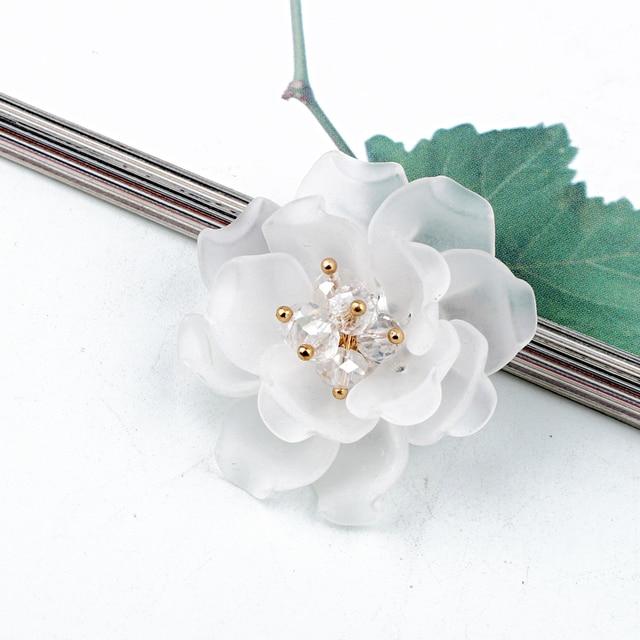 3 sztuk 3D peeling Rhinestone kwiat na nadgarstek rękodzieło złącza do biżuterii ustalenia diy do włosów akcesoria odznaka broszka koralik sprawiają, że