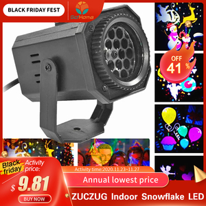ZUCZUG Indoor Snowflake LED Light Moving Snow Laser Projector Christmas Lamp Projection Light Rotating Snowflake Projector Light