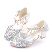 Dance Glitter Little Girls Heels Sandals 2019 Big Kids Shoe