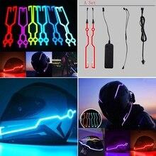 New Motorcycle Helmet Light LED DIY Black Helmet LED Light M