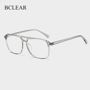 Image 1 - BCLEAR Ultra Light TR90 Retro Black Transparen Doppia Trave Uomini Montature Per Occhiali Per La Prescrizione di Occhiali Da Vista Ottica Occhiali H8024