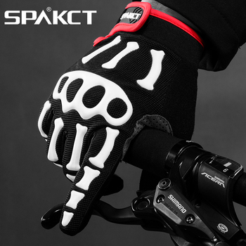Winter cycling gloves Full Finger bicycle gloves mens sport gloves High quality skiing Cycling Gloves skull gloves bike gloves фото
