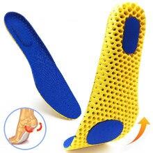 Wkładki do butów z pianki Memory podeszwa z siatki dezodorant oddychająca poduszka do biegania wkładki do stóp mężczyzna kobiet wkładki ortopedyczne