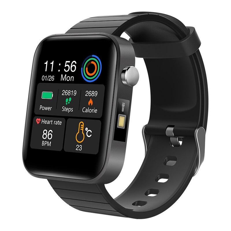 Новинка 2020, мужские умные часы T68 с измерением температуры тела, пульса, артериального давления, кислорода, браслет с напоминанием о звонках, умные часы черного цвета|Смарт-браслеты| | АлиЭкспресс