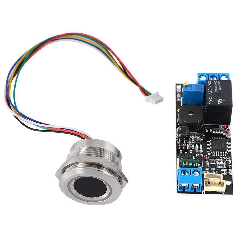 K202 DC12V Low Power Fingerprint Control Board + R503 Fingerprint Module Round Fingerprint Recognition Module
