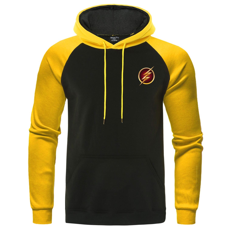 The Big Bang Theory Sweatshirt Men Superhero Men's Streetwear The Flash Hoodies Male Raglan Pullover Autumn Winter Fleece Hoody